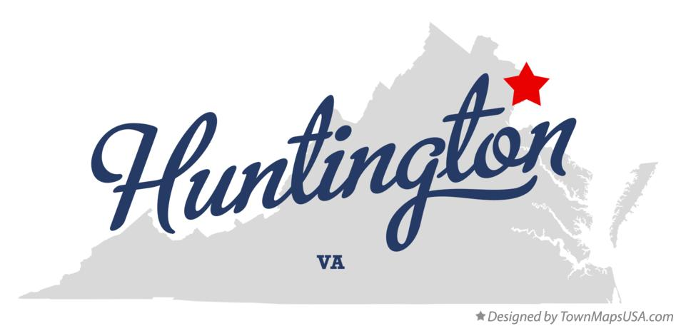 Map of Huntington Virginia VA
