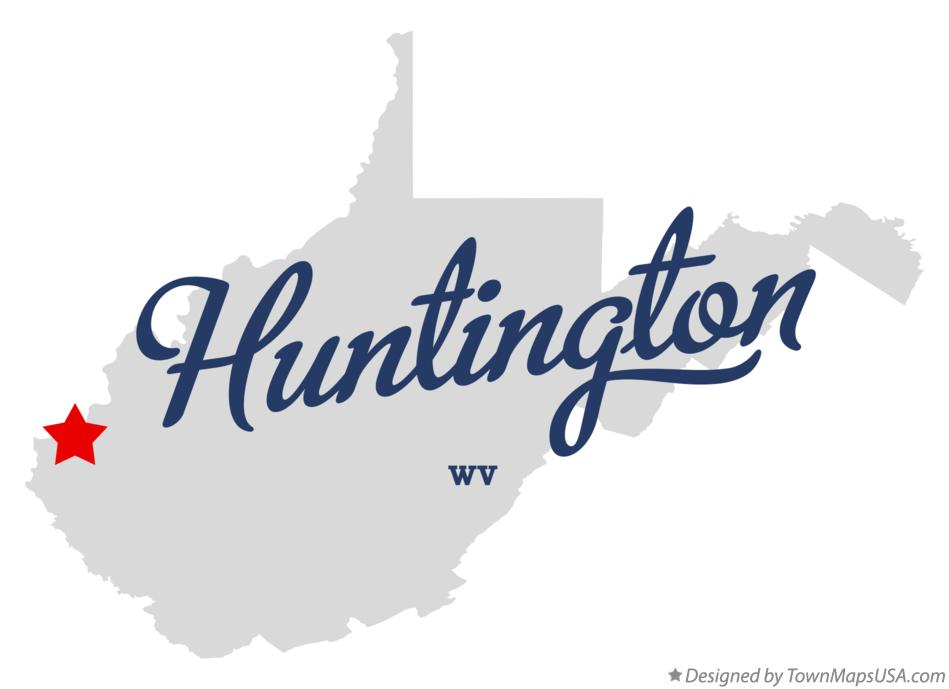 Map of Huntington West Virginia WV