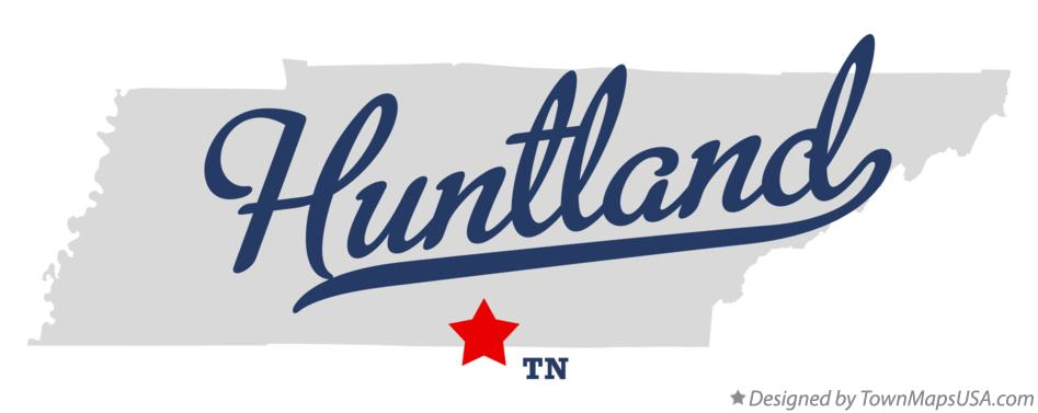 Map of Huntland Tennessee TN