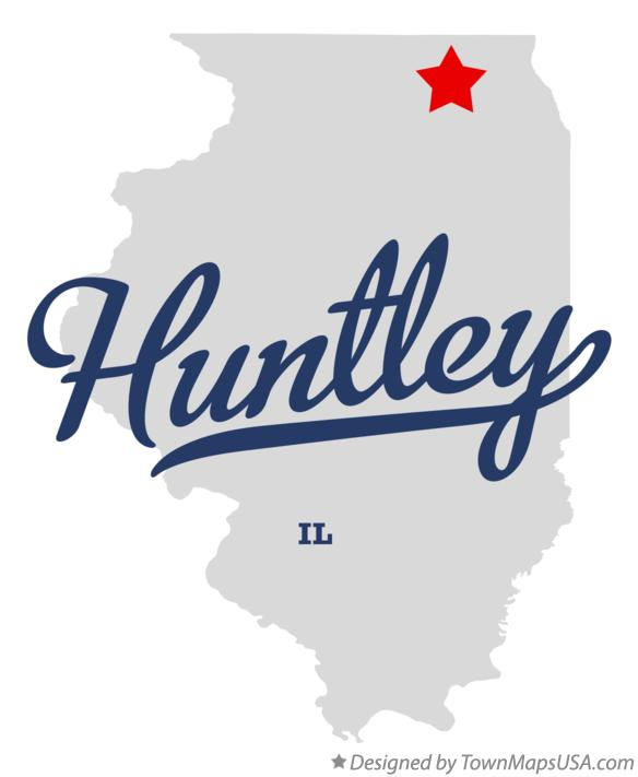 Map of Huntley Illinois IL