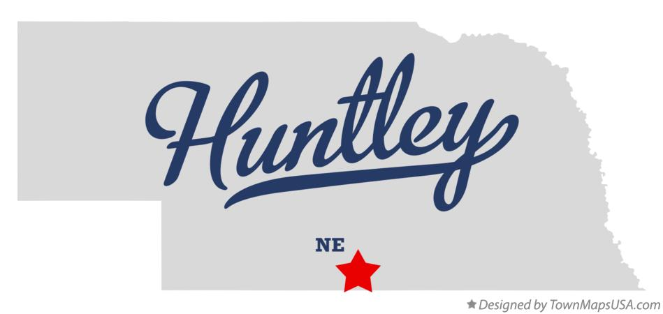 Map of Huntley Nebraska NE