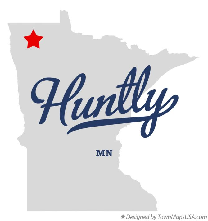 Map of Huntly Minnesota MN