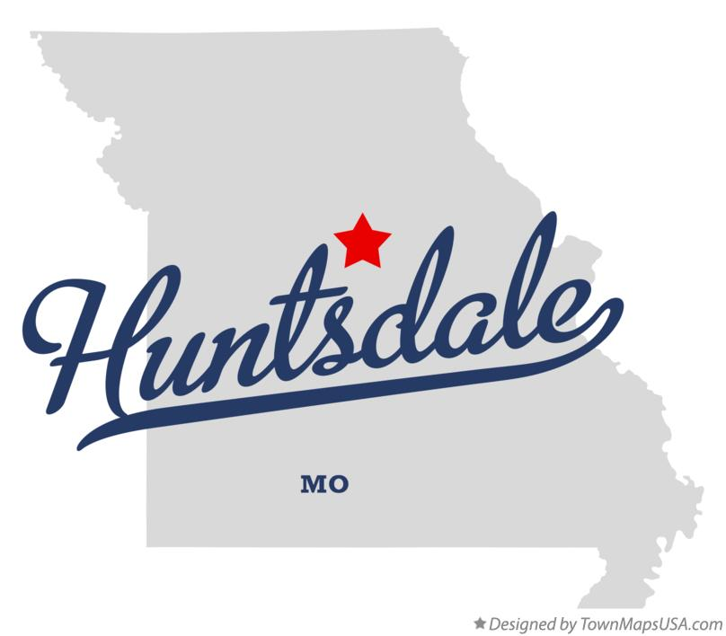 Map of Huntsdale Missouri MO