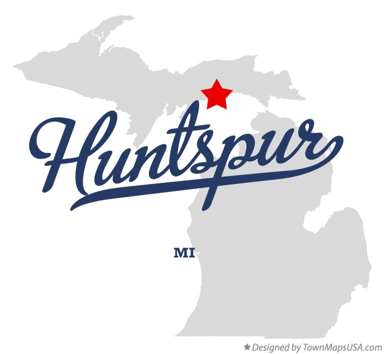 Map of Huntspur Michigan MI