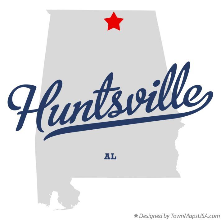 Map of Huntsville, AL, Alabama