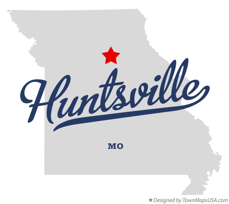 Map of Huntsville Missouri MO