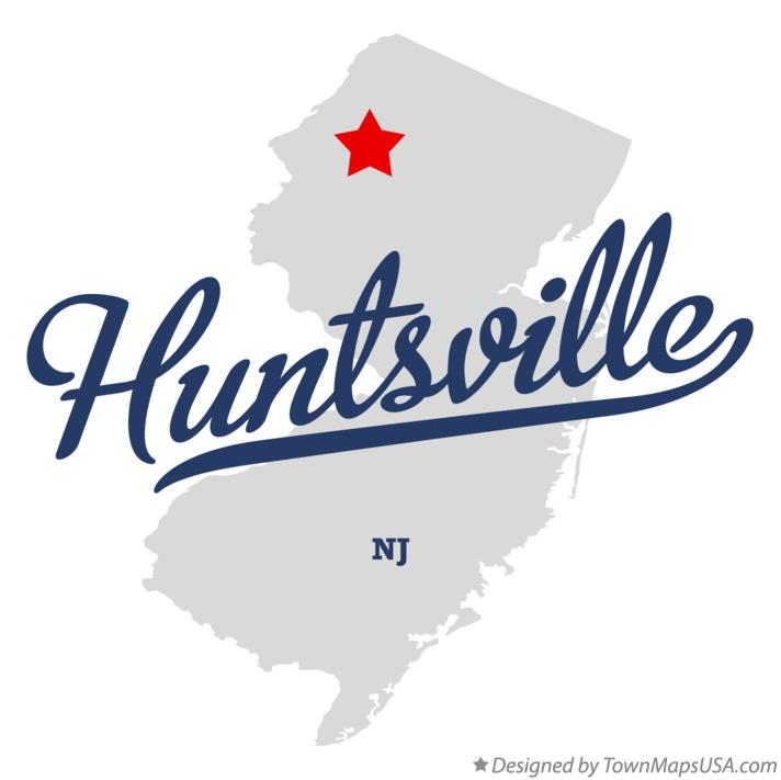Map of Huntsville New Jersey NJ