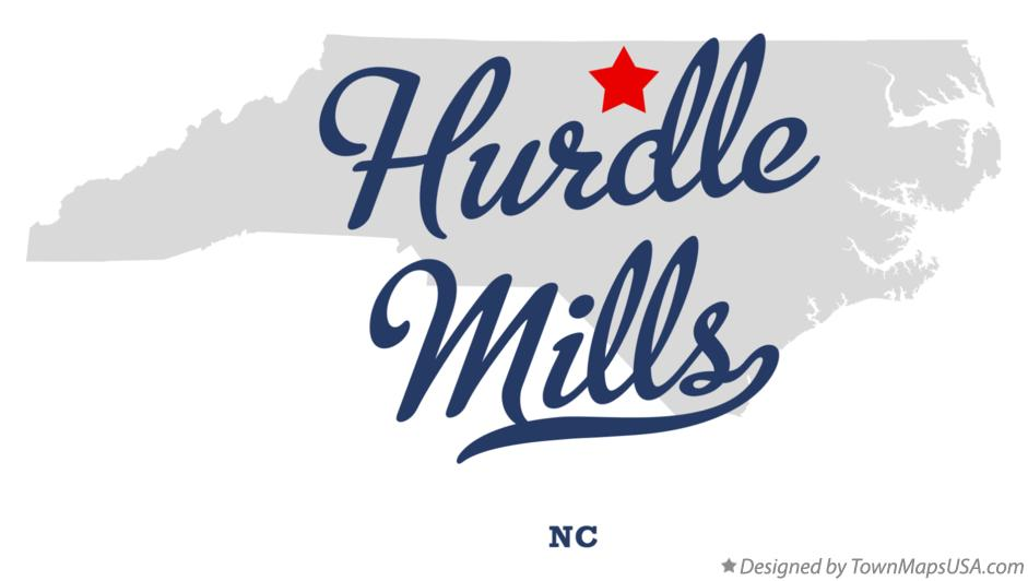 Map of Hurdle Mills North Carolina NC