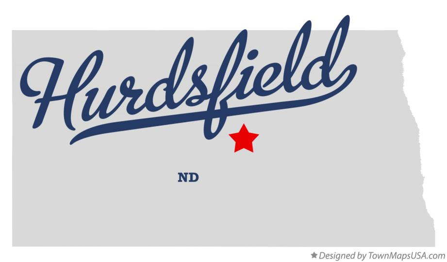 Map of Hurdsfield North Dakota ND