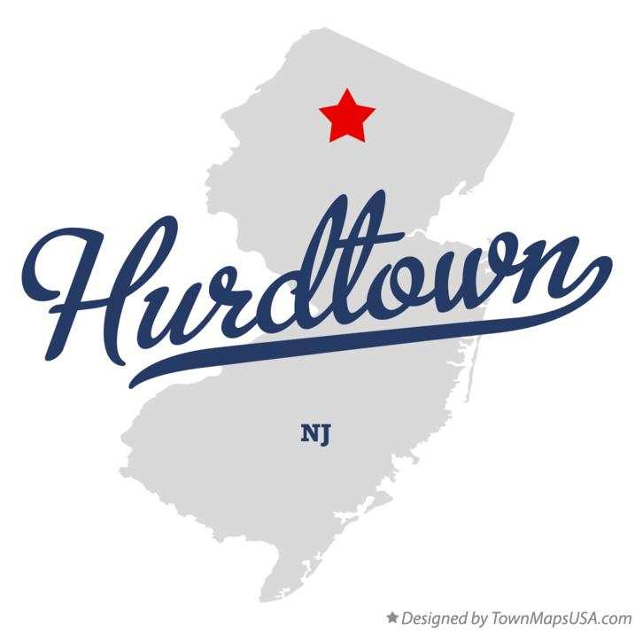Map of Hurdtown New Jersey NJ