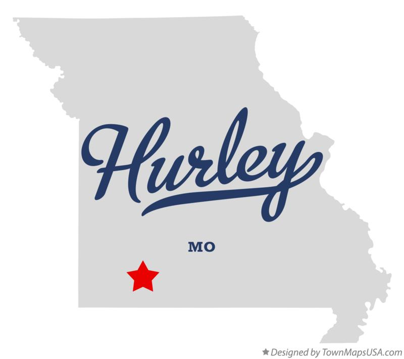 Map of Hurley Missouri MO