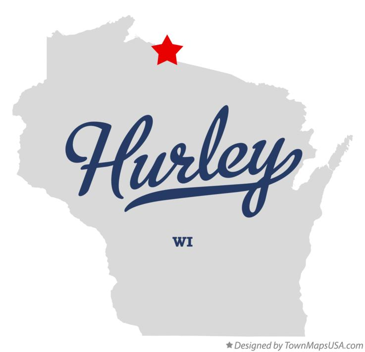 Map of Hurley Wisconsin WI