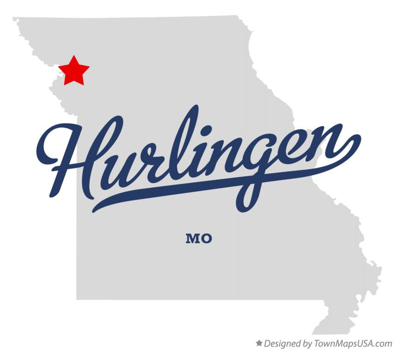Map of Hurlingen Missouri MO