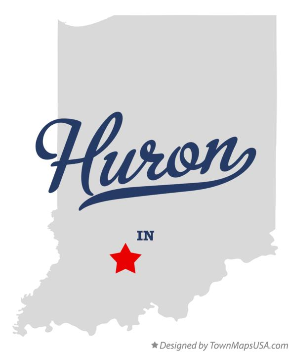 Map of Huron Indiana IN