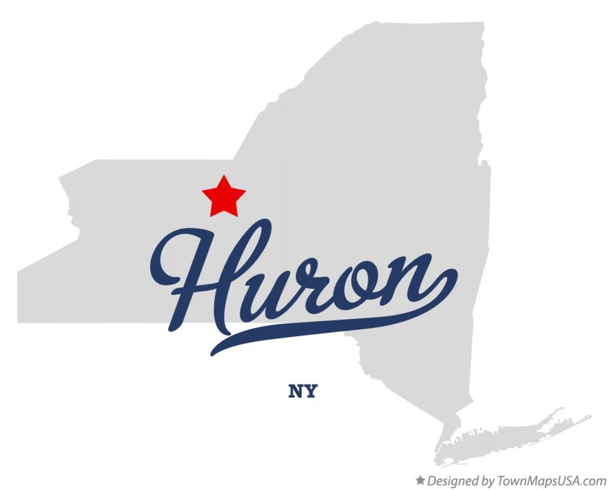 Map of Huron New York NY