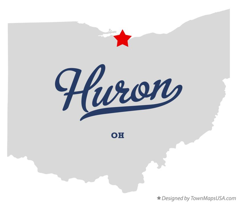Map of Huron Ohio OH