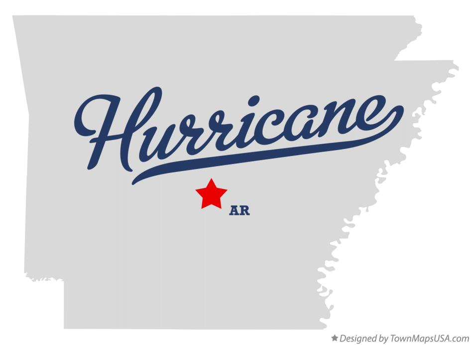 Map of Hurricane Arkansas AR