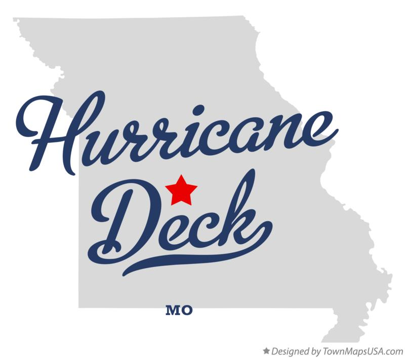 Map of Hurricane Deck Missouri MO