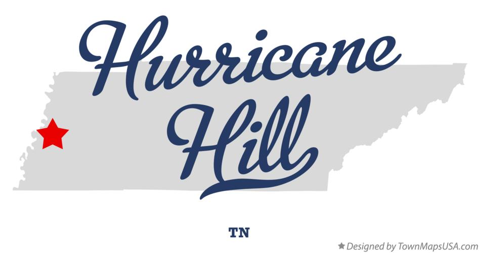 Map of Hurricane Hill Tennessee TN