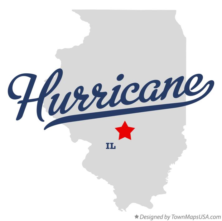 Map of Hurricane Illinois IL