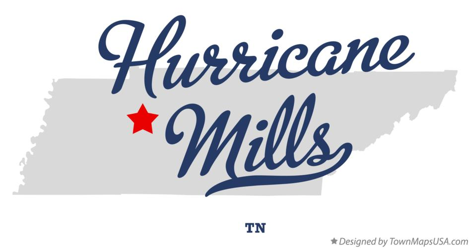 Map of Hurricane Mills Tennessee TN