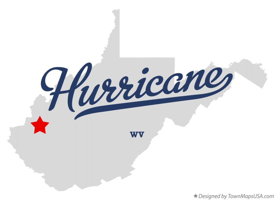 Map of Hurricane West Virginia WV