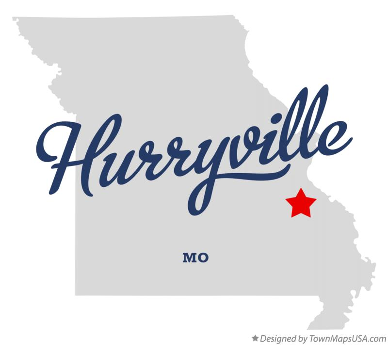 Map of Hurryville Missouri MO