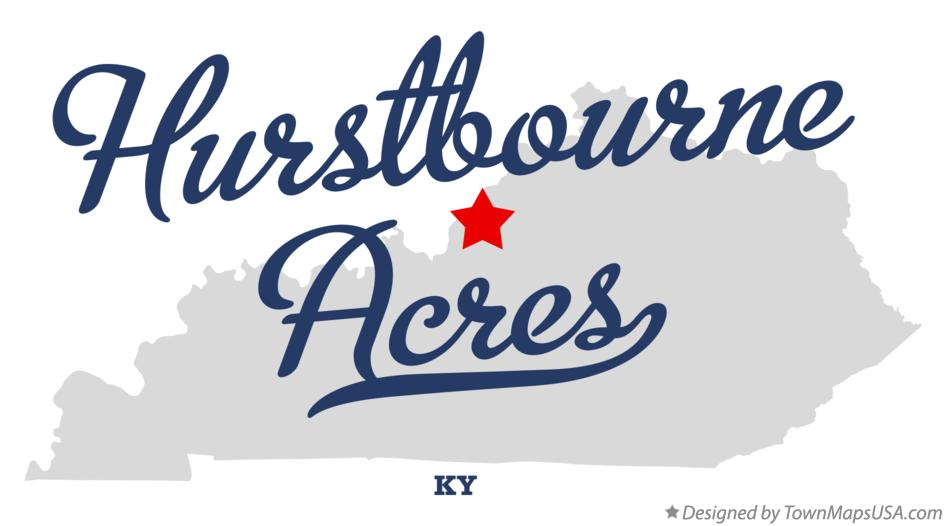 Map of Hurstbourne Acres Kentucky KY