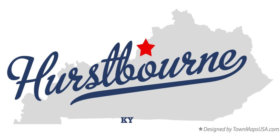 Map of Hurstbourne Kentucky KY