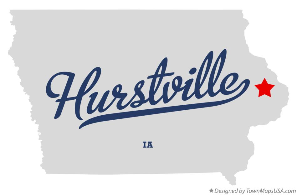 Map of Hurstville Iowa IA