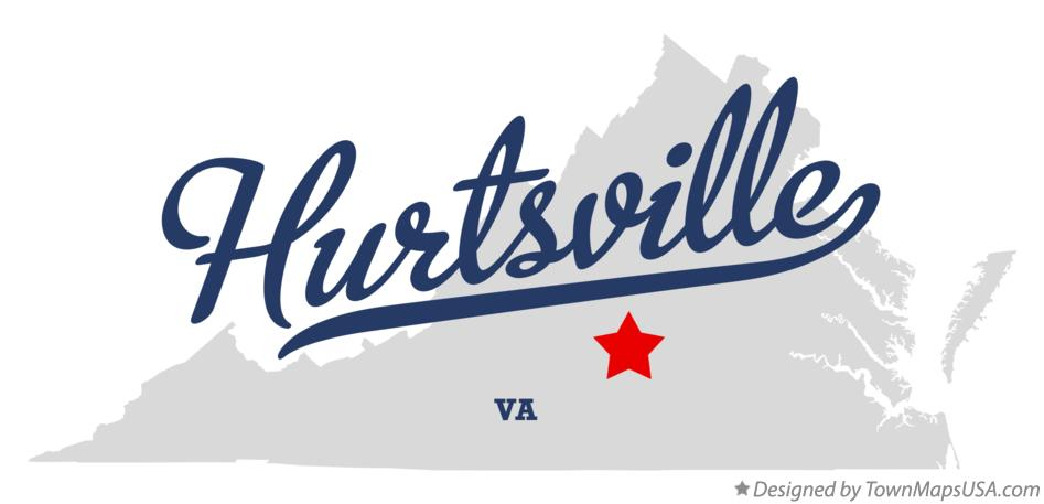 Map of Hurtsville Virginia VA