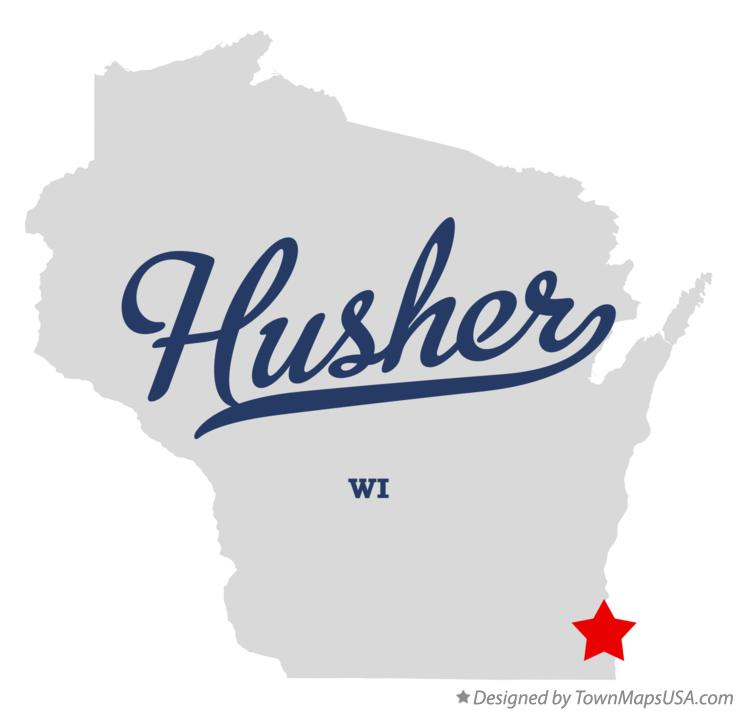 Map of Husher Wisconsin WI