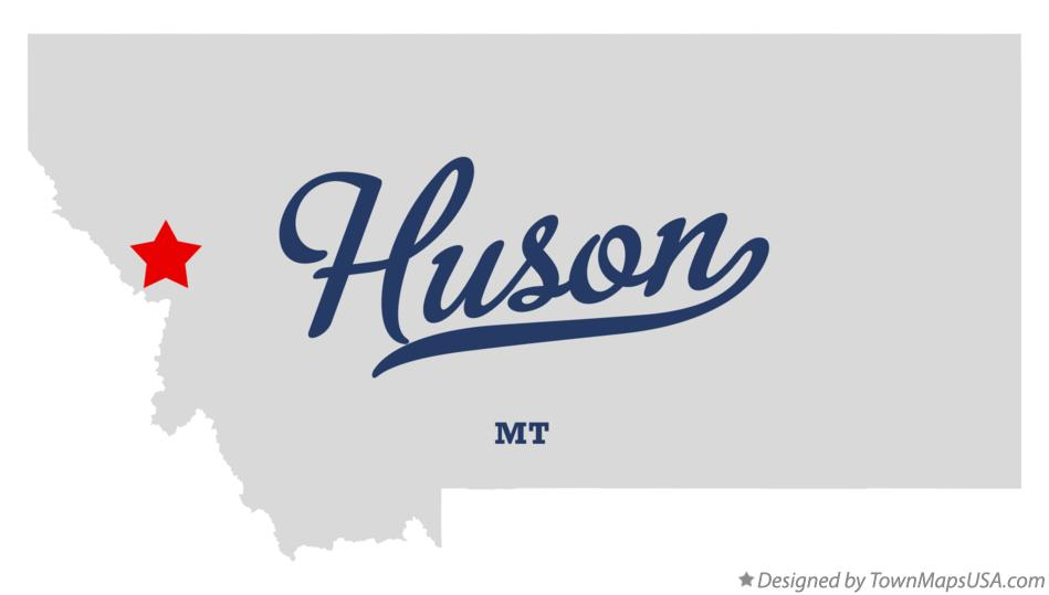 Map of Huson Montana MT