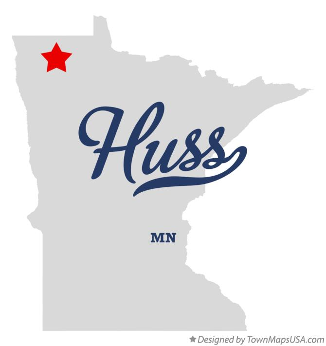 Map of Huss Minnesota MN