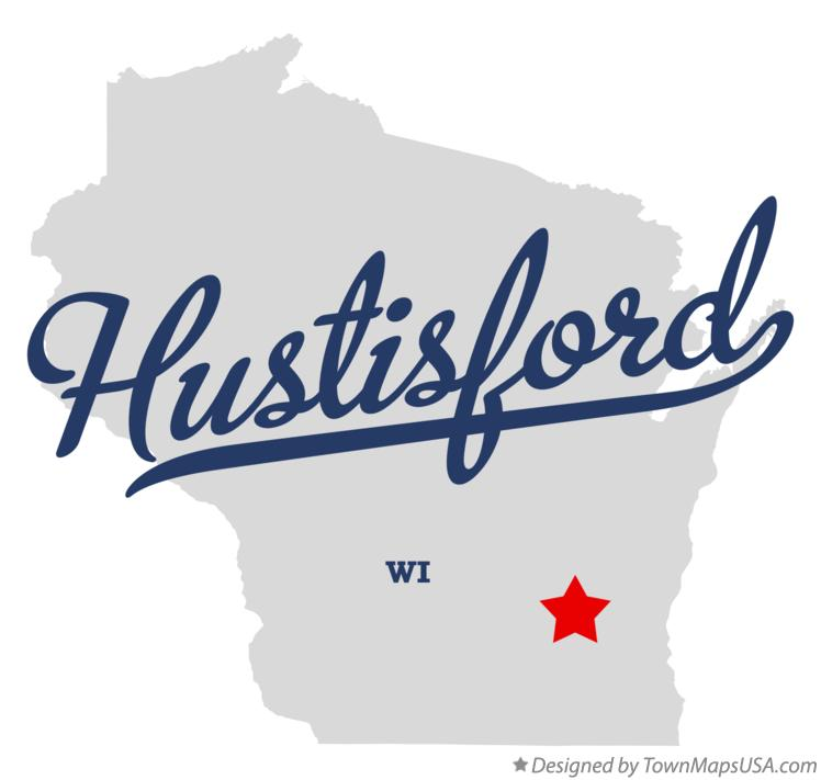 Map of Hustisford Wisconsin WI