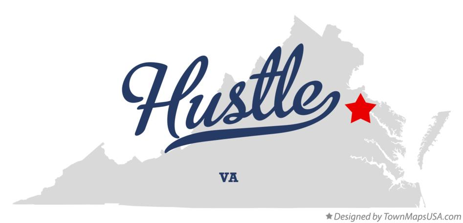 Map of Hustle Virginia VA