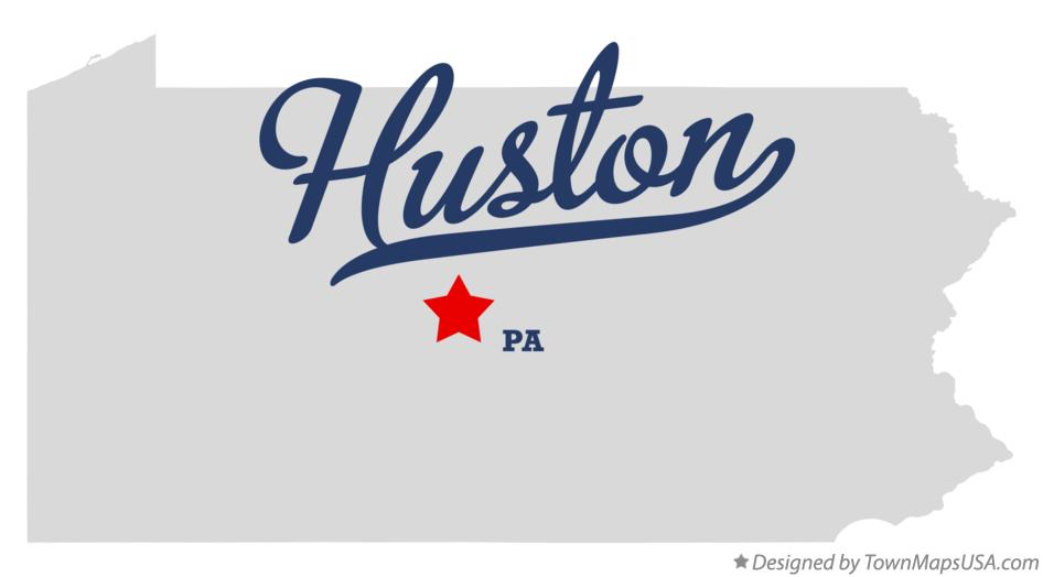 Map of Huston Pennsylvania PA