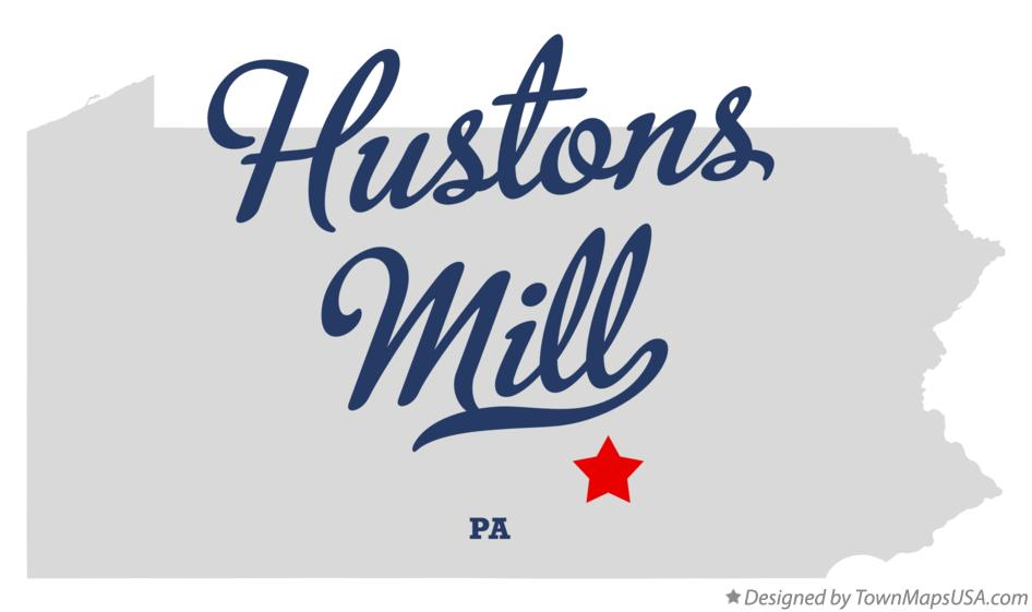 Map of Hustons Mill Pennsylvania PA
