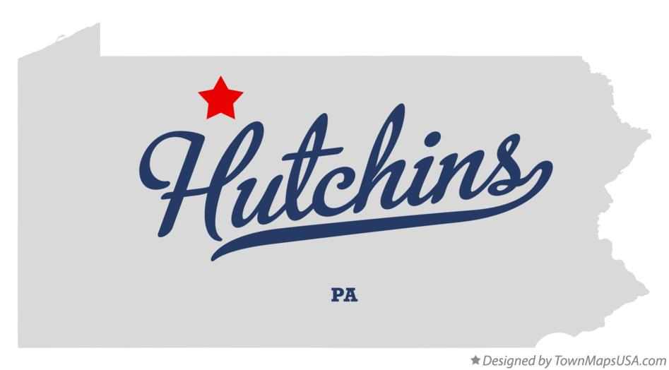 Map of Hutchins Pennsylvania PA