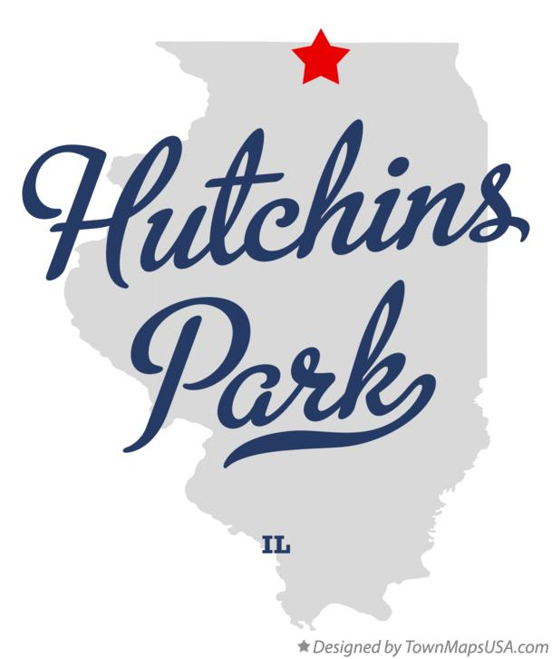 Map of Hutchins Park Illinois IL
