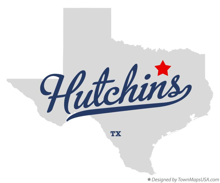 Map of Hutchins Texas TX