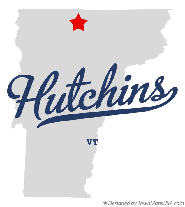 Map of Hutchins Vermont VT