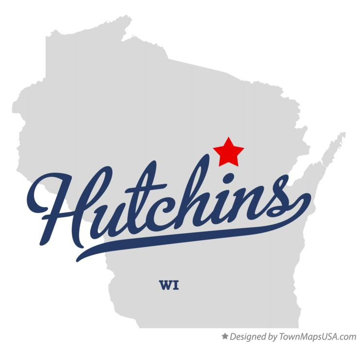 Map of Hutchins Wisconsin WI