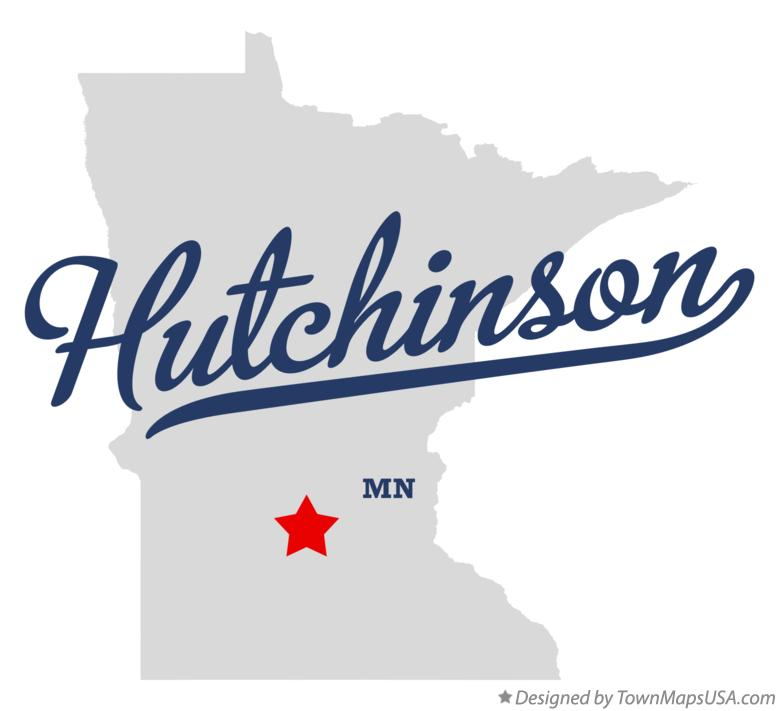 Map of Hutchinson Minnesota MN