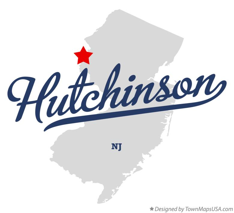 Map of Hutchinson New Jersey NJ