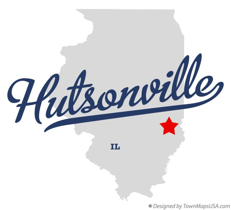 Map of Hutsonville Illinois IL