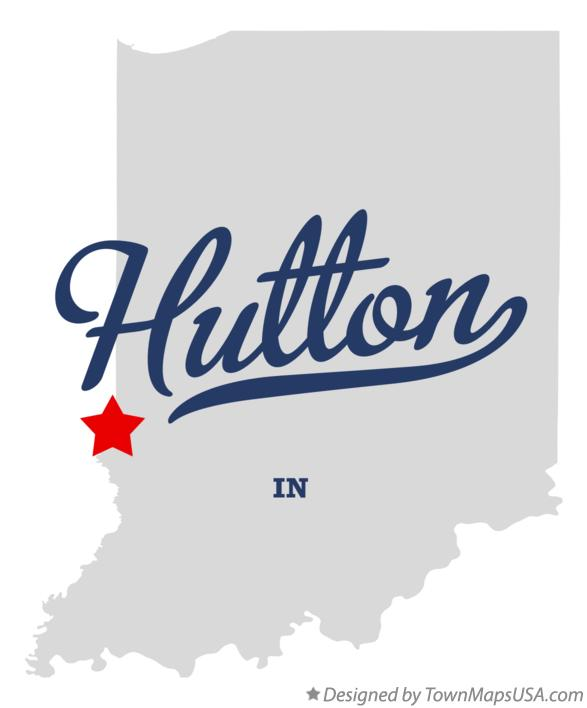 Map of Hutton Indiana IN