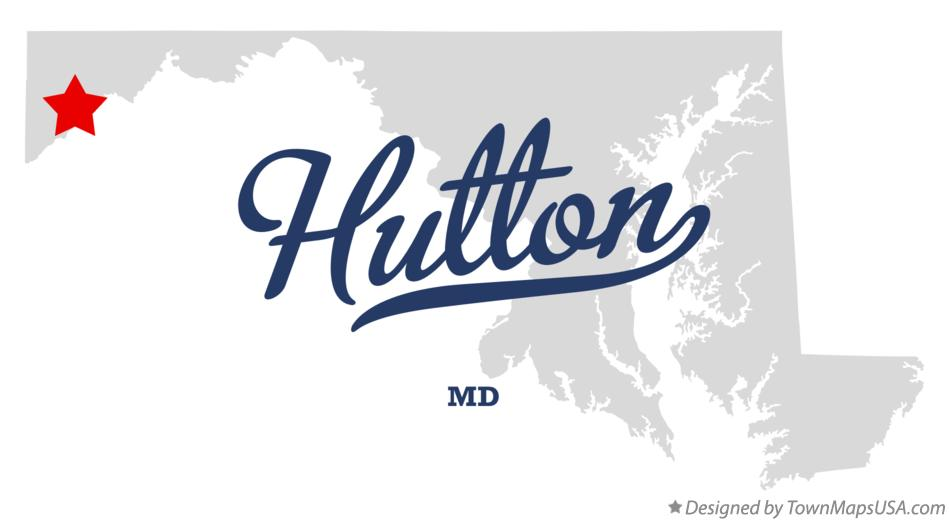 Map of Hutton Maryland MD