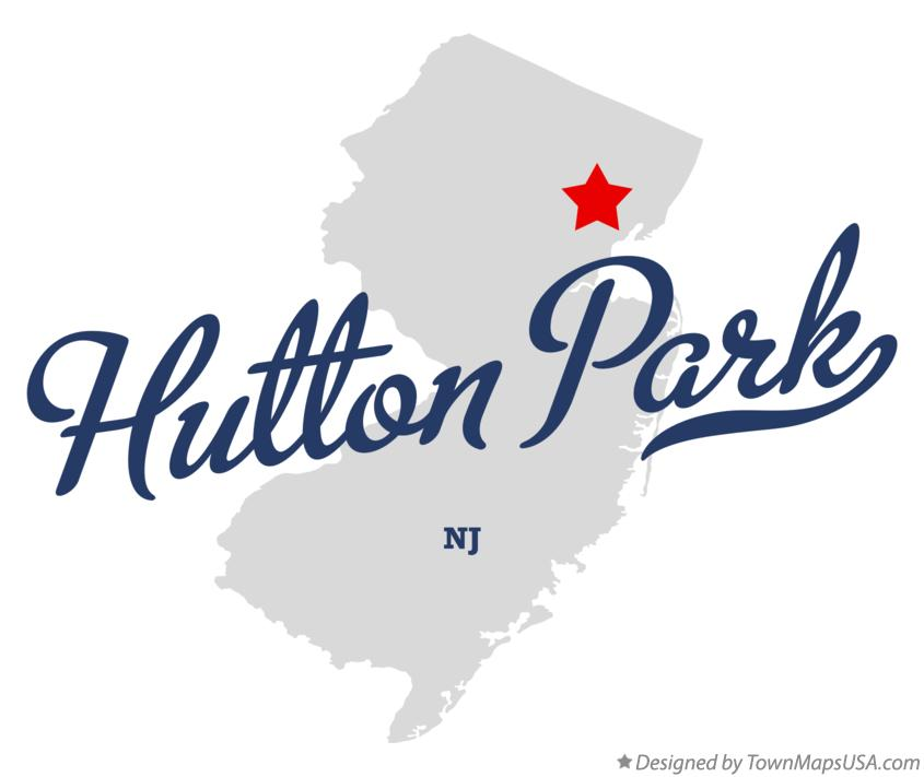 Map of Hutton Park New Jersey NJ