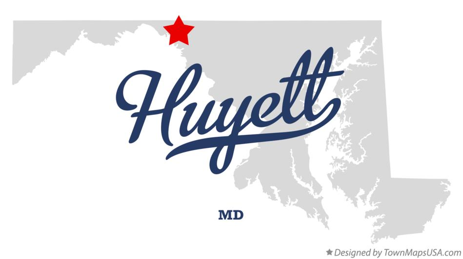 Map of Huyett Maryland MD